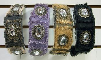 Image Distressed Denim and Jeweled Headband