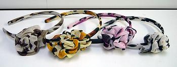 Image Chiffon Leopard Flower headband