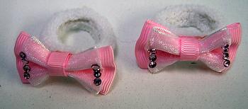 Image Chiffon/Satin Pony Bow Pairs