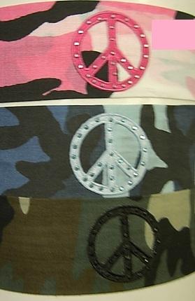 Image Camo Peace Cotton Headband