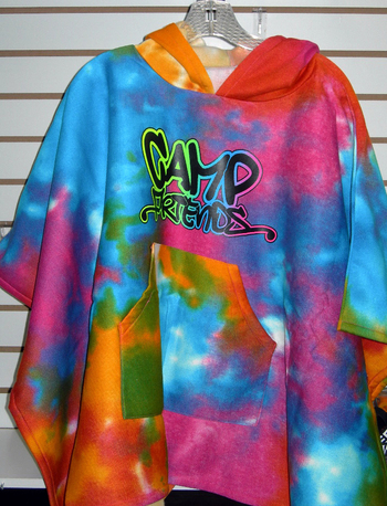 Image Sweatshirt Tie Dye Camp Friends Poncho
