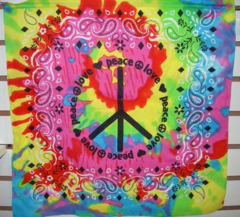 Image Tie Dye Bandanas