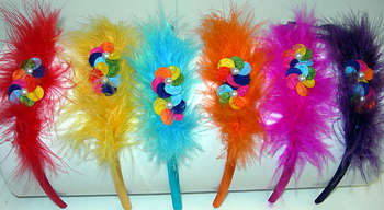 Image Marabou Flower Headband