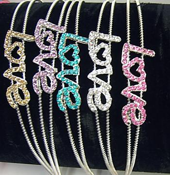 Image Rhinestone Pastel Love Headband