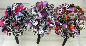 Image Rainbow Leopard Flower Headband