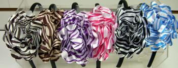 Image Zebra Flower Headband