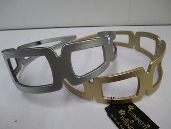 Image Rectangular Metallic Headband