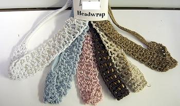 Image Beaded Crochet Head Wrap