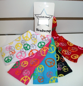 Image Jersey Multi Peace Headwrap