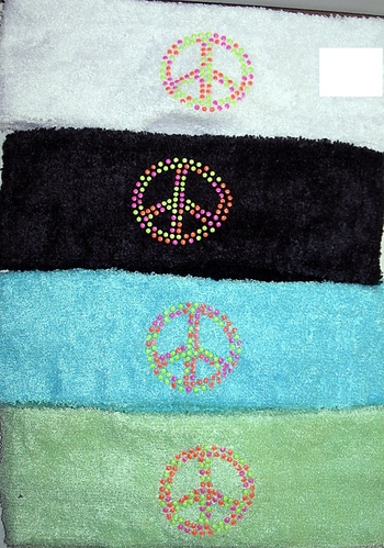 Image Terry Neon Peace Headwrap