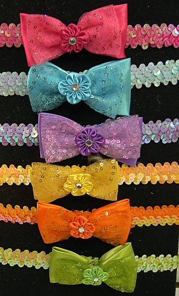 Image Sequin Bow Sequin Headwrap