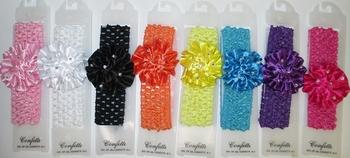 Image Crochet Head Wrap Carnation