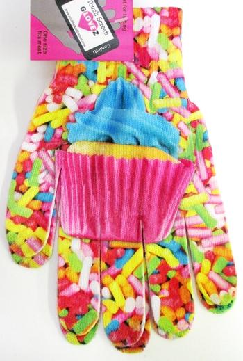 Image Texting Gloves Cupcake