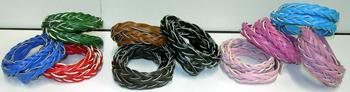 Image Braided Wrap Snap Bracelet