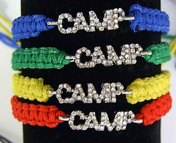 Image Rhinestone Crochet Camp Bracelet