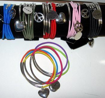 Image 6pc Elastic Bracelet Set with Charms