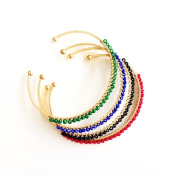 Image Seed Bead Cuff Bracelet