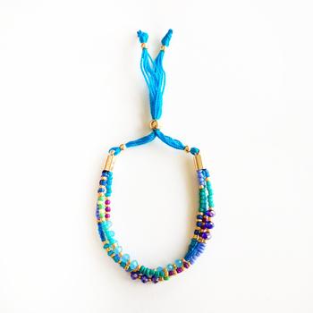 Image Beaded Pull Tie Bracelet