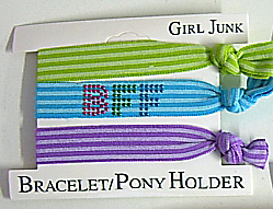Image Stripe BFF Bracelet/Pony 3pc Set