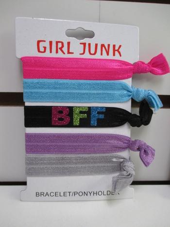 Image 5pcs Glitter BFF Bracelet/Pony