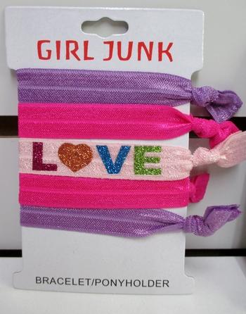 Image 5pc Glitter Love Bracelet/ Pony