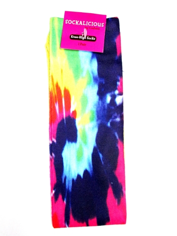 Image Tye Dye Knee Sock