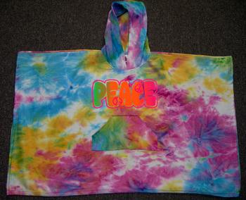 Image Sweatshirt Peace Poncho