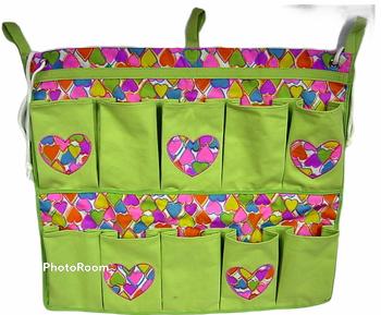 Image Rainbow Hearts 10 Pocket Shoe Bag