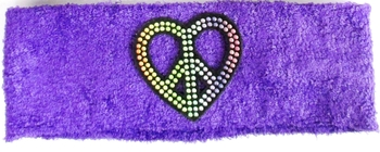 Image Terry Studded Heart Head Wrap