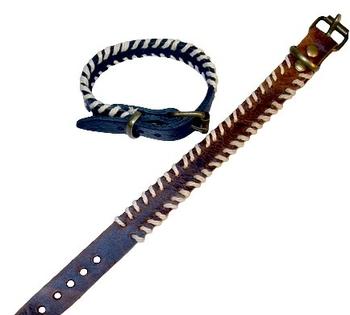 Image Leather Cord Edged Buckle Bracelet