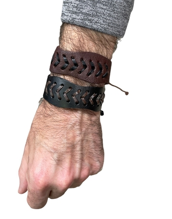 Image Leather V Tie Bracelet