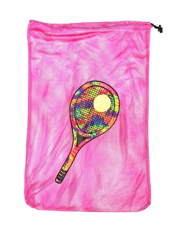 Image Tennis Racket Mesh Laundry Bag