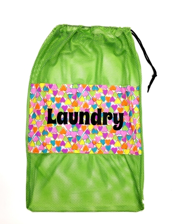 Image Rainbow Hearts Mesh Laundry