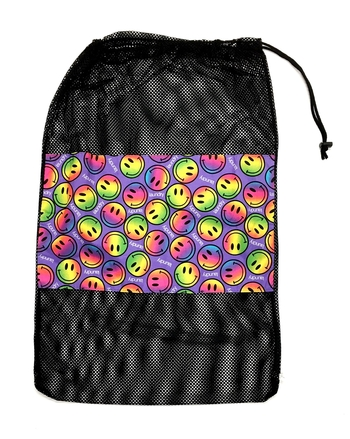 Image Purple Mesh Rainbow Smile Laundry Bag
