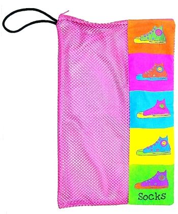 Image Sneaker Zippered Mesh Sock Bag