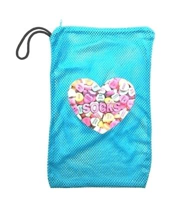 Image Sweetheart Zippered Mesh Sock Bag