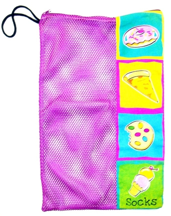 Image Junk food Zippered Mesh Sock Bag