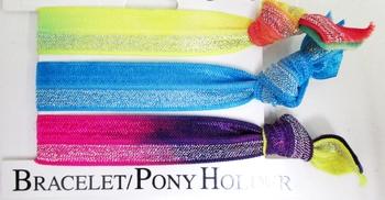 Image Metallic Tye Dye Pony/Bracelet Trio