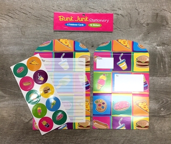 Image Junk Food Fold-over Stationery