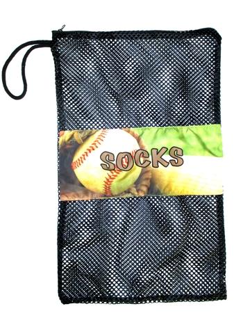 Image Baseball Mitt Zippered Sock Bag