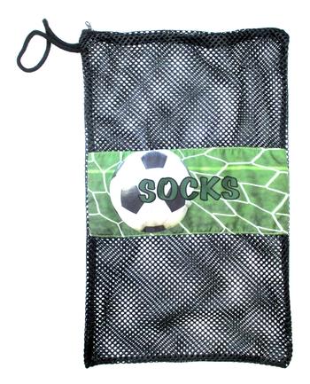 Image Soccer Net Zippered Sock Bag