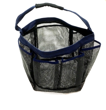 Image Blue Trim Mesh Shower Caddy