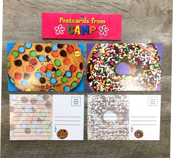 Image Cupcake/Donut Postcard Set