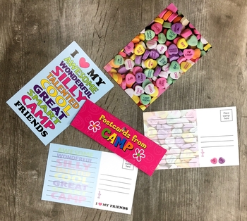 Image I Heart My Friends/Sweetheart Post Card Set
