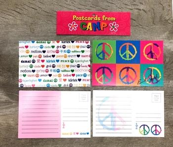 Image Multi Lingual Peace/Peace Post Card Set