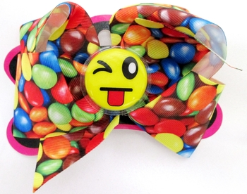 Image Emoji Candy Bow Clippie