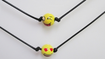 Image Emoji Black Cord Necklace