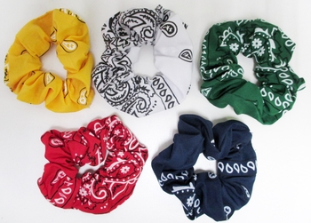 Image Bandana Scrunchie Fall Colors