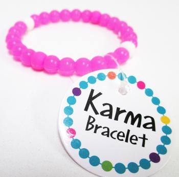 Image Karma Neon Pink Bracelet