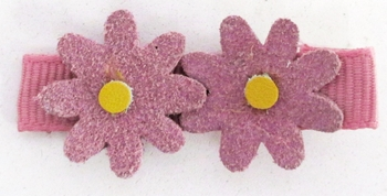 Image Double Suede Flower Clippie